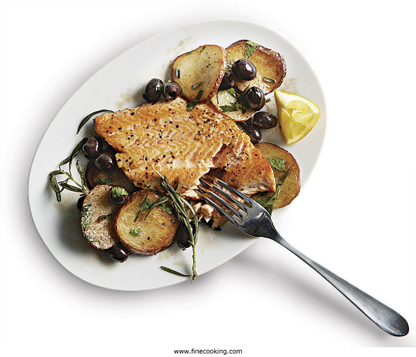 Pan-Seared Arctic Char with Olives and Potatoes