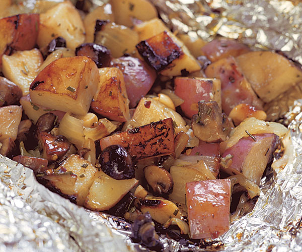 Grilled Potato & Mushroom Packages Recipe