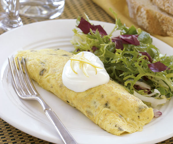 Chive & gruyere Omelet