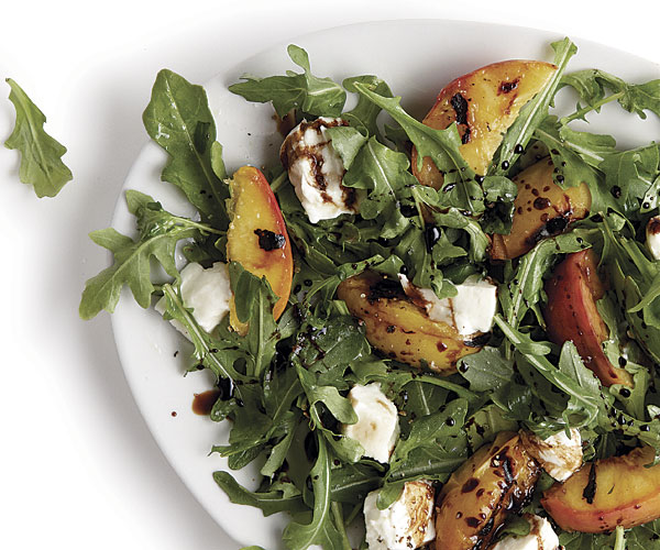 Grilled Peach And Buffalo Mozzarella Salad Recipe Finecooking