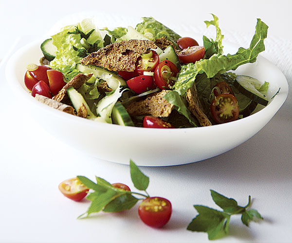 Toasted Pita and Herb Salad