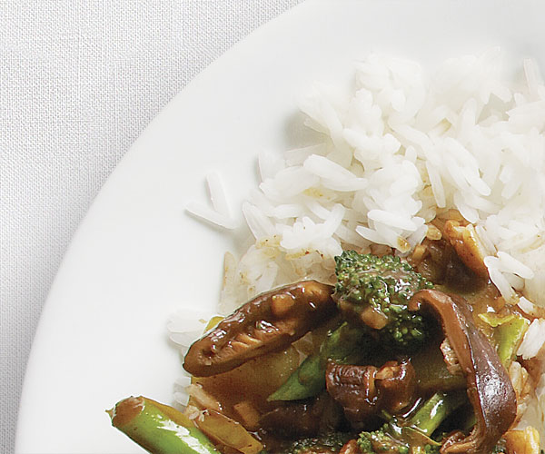 Broccoli & Shiitake Stir-Fry with Black Bean Sauce
