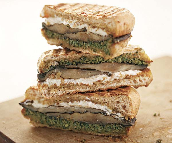 Grilled Portobello & Goat Cheese Sandwiches
