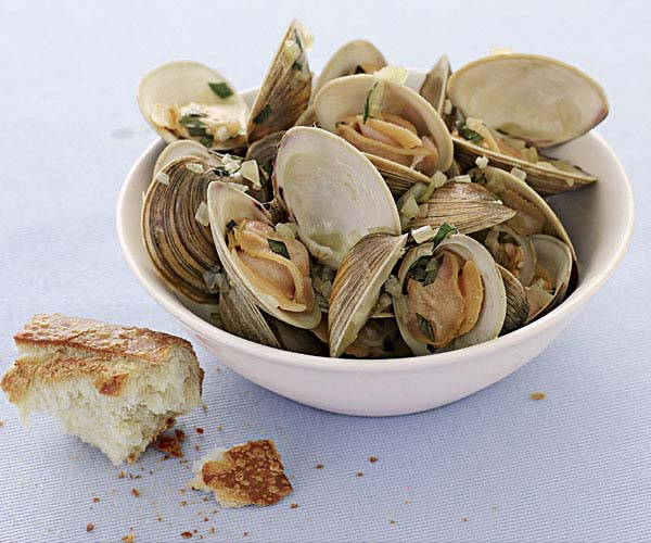 Clams with Basil Broth