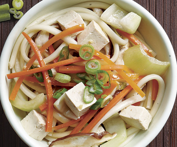 Udon with Tofu and Stir-Fried Vegetables