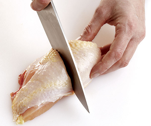 cutting up a chicken step 9