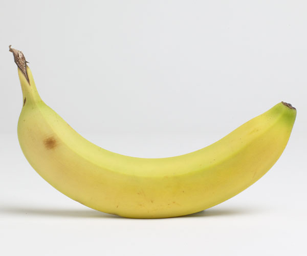 Barely ripe banana