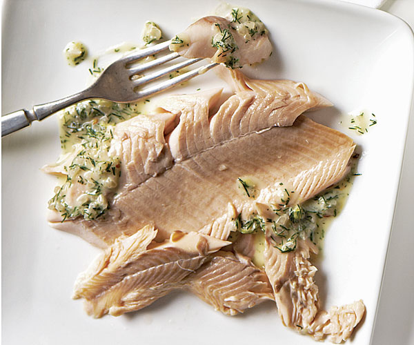 Salt-Crusted Trout with Lemon-Dill Beurre Blanc