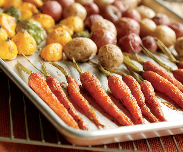 Roasted Baby Squash, Carrots & Potatoes