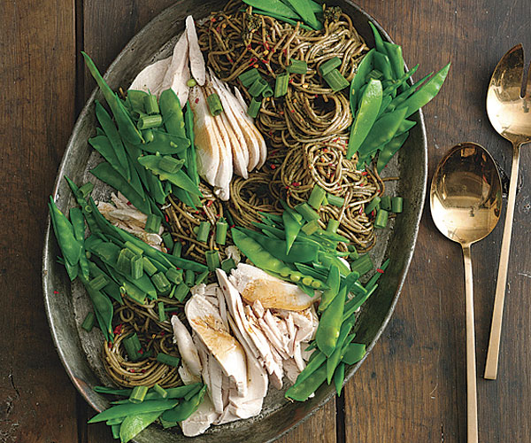 Easy Basil Chicken Salad with Soba