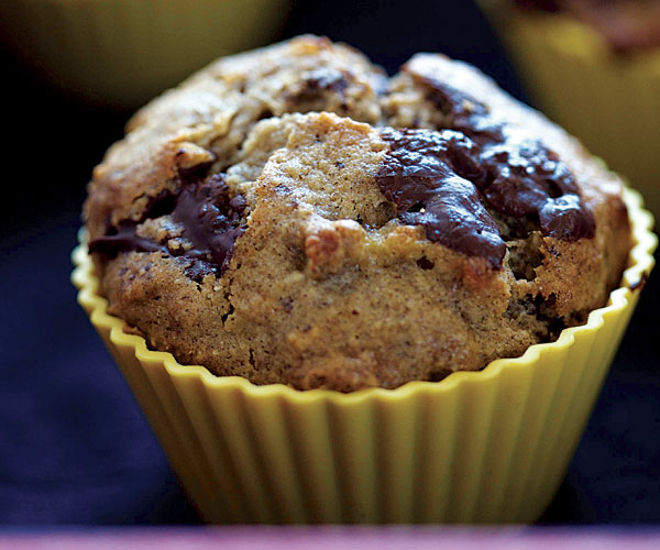 Banana, Chocolate, and Hazelnut Muffins