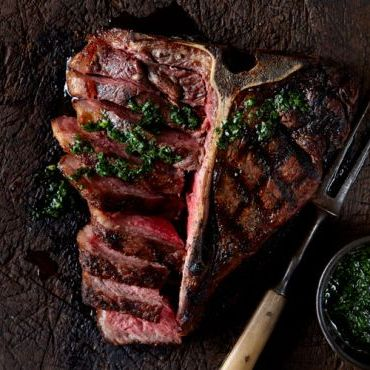 Grilled Porterhouse Steak with Chimichurri Sauce