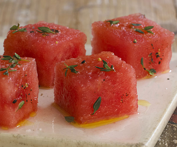 Cured Watermelon Crudo with Thyme recipe