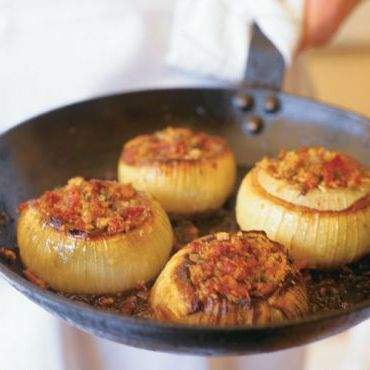 Roasted Onions Stuffed with Prosciutto & Parmesan