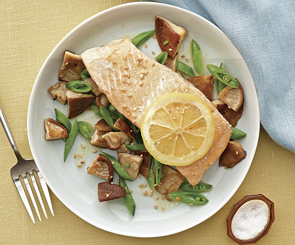 Poached Arctic Char with Brown Butter and Shiitake