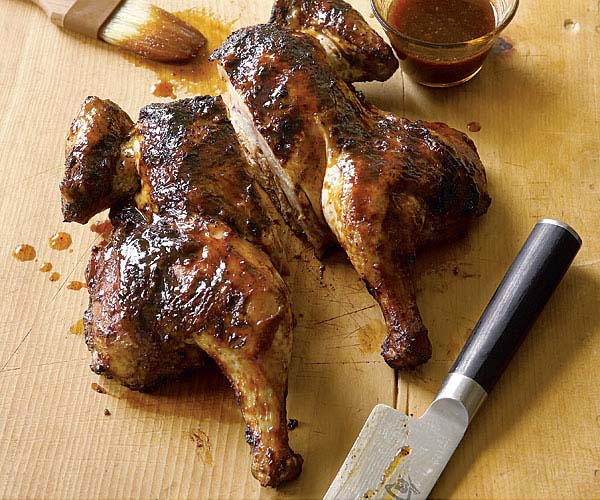 Grill-Roasted Honey Barbecued Chicken