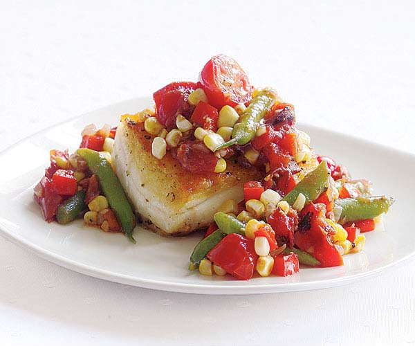 Smoked Heirloom Tomato Relish with Corn and Beans
