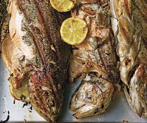 Whole Smoke-Grilled Mountain Trout