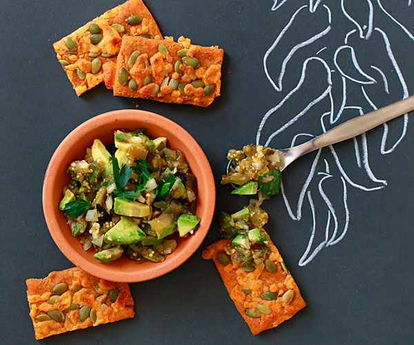 Amaranth Crackers with Cheddar and Pepitas