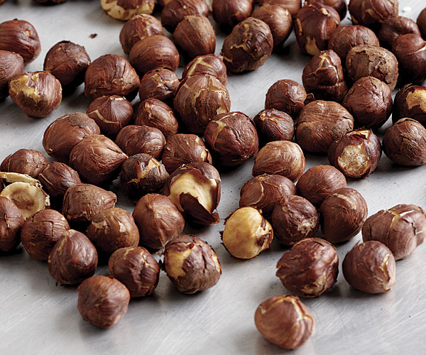 bake hazelnuts at 350 degrees