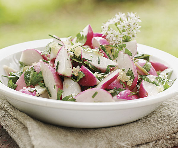 May Day Radish and Parsley Salad with Lemon and Ginger