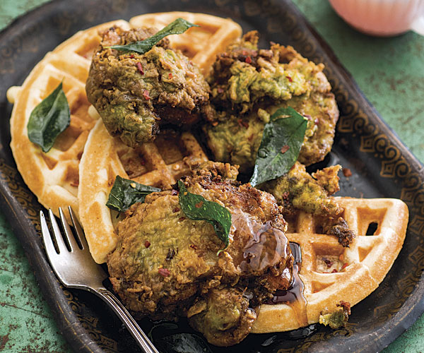 Keralan Fried Chicken with Lowcountry Cardamom Waffles