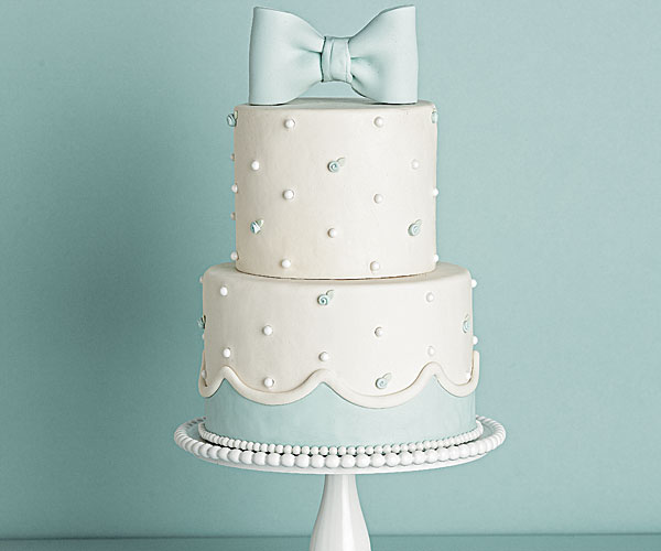 Ribbon Rose Hobnail Wedding Cake Recipe Finecooking