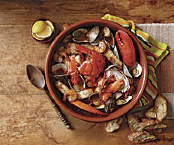 Seafood with Romesco Sauce