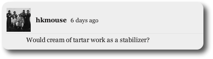 Would cream of tartar work as a stabilizer?